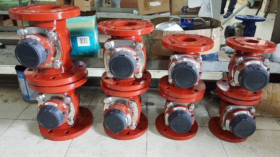 Đồng hồ nước nóng 130oC sensus DN50-DN200,.