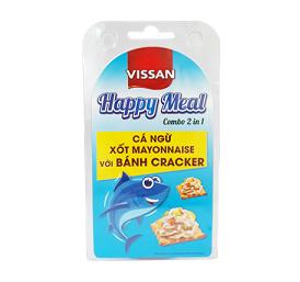 Cá ngừ xốt Mayonnaise với bánh cracker