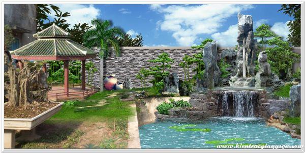 thiết kế non bộ sân vườn