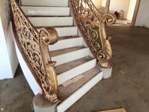 Cầu thang nhôm đúc 027