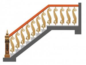 Cầu thang nhôm đúc 020