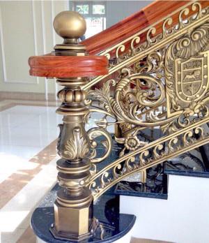 Cầu thang nhôm đúc 026