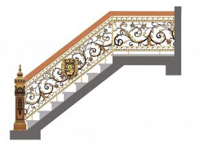Cầu thang nhôm đúc 022