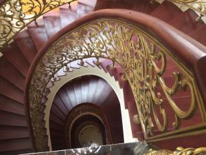 Cầu thang nhôm đúc 029