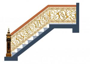 Cầu thang nhôm đúc 021