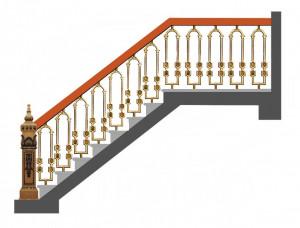 Cầu thang nhôm đúc 019