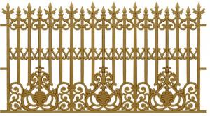 Hàng rào nhôm đúc mẫu 016