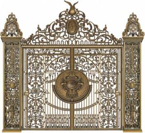 Cổng nhôm đúc mẫu 086