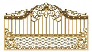 Hàng rào nhôm đúc mẫu 012