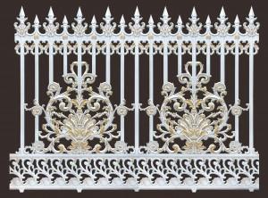 Hàng rào nhôm đúc mẫu 019