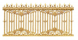 Hàng rào nhôm đúc mẫu 017