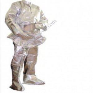 Quần áo amiăng chống cháy tráng bạc