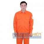 Quần áo bảo hộ màu cam chất liệu Kaki Băng Zin