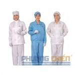 Quần áo trắng blu vải lon Nhật kết hợp mũ