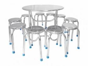 Bộ bàn ghế inox tròn