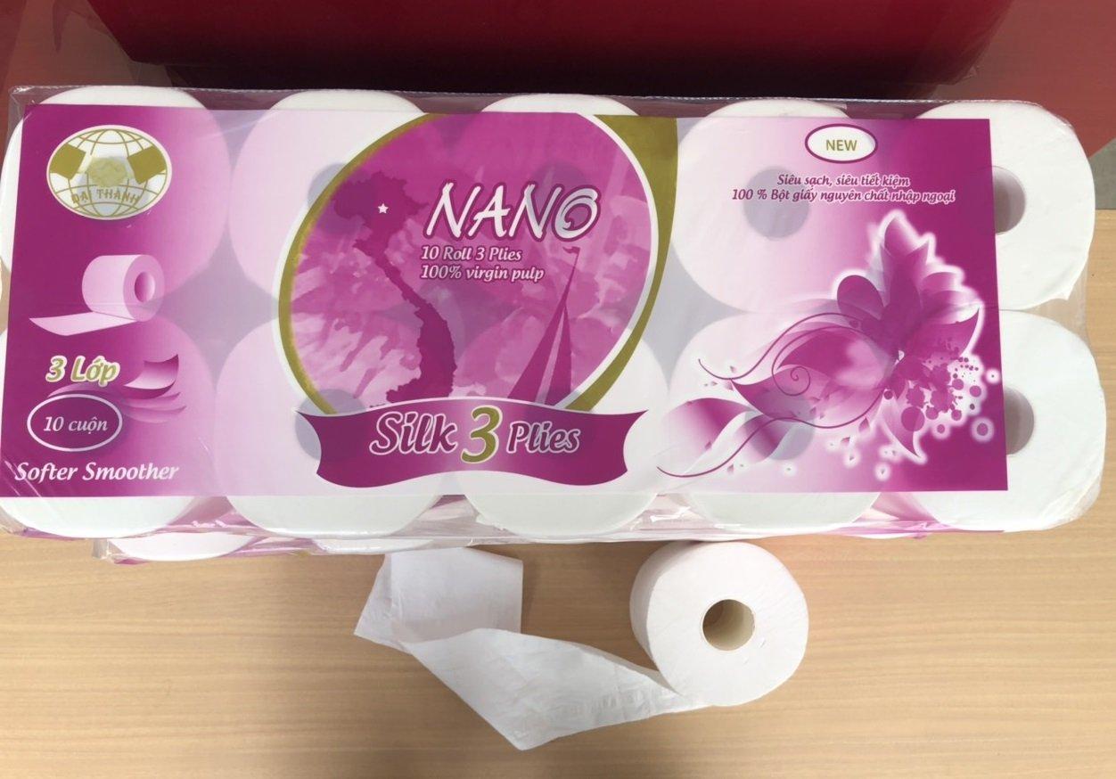Giấy vệ sinh nano màu tím