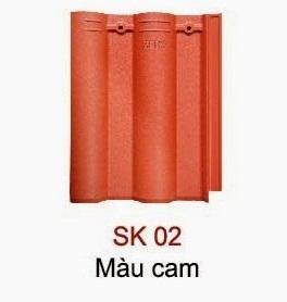 Ngói Seiko sóng nhỏ màu cam