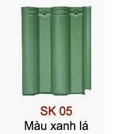 Ngói Seiko sóng nhỏ xanh lá