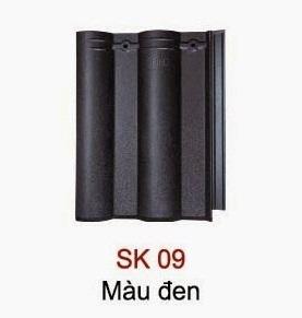 Ngói Seiko sóng nhỏ màu đen
