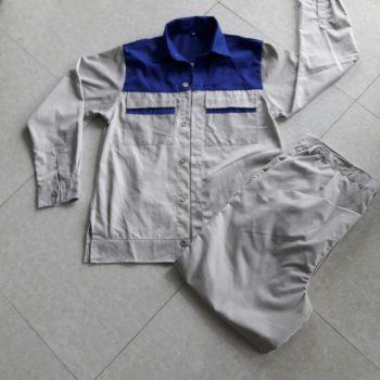 Áo QA15 màu ghi sáng phối xanh CN