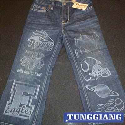 Khắc Laser Vải Bò Jean