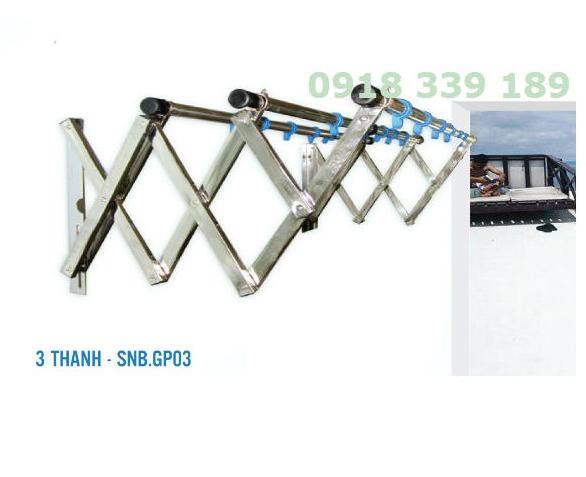 Giàn phơi xếp tường GP03