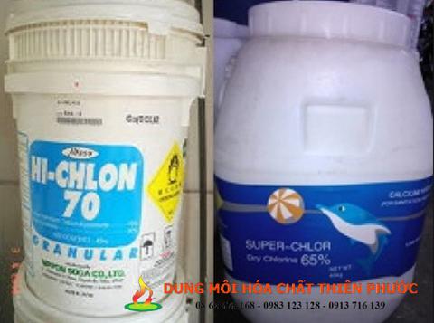 CHLORINE - CALCIUM HYPOCHLORITEl70% (Nhật) , 65% (TQ)