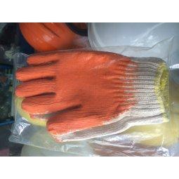 Găng tay len phủ cao su cam