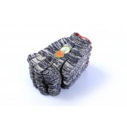 Găng tay len màu xám