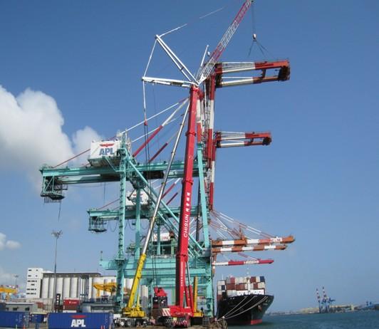 Tháo Cẩu Cảng APL- Đài Loan
