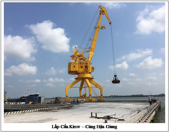 Lắp cẩu Kirov - Cảng Hậu Giang
