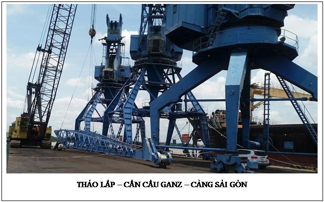 Tháo lắp cần cẩu Ganz - Cảng SG