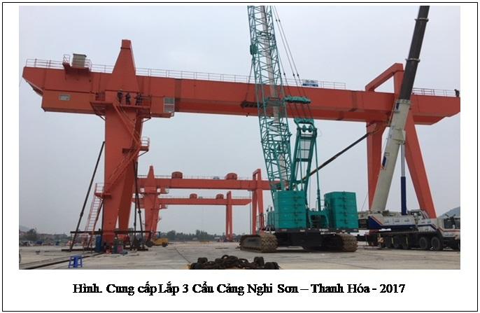 Lắp 3 cẩu Cảng Nghi Sơn - Thanh Hóa