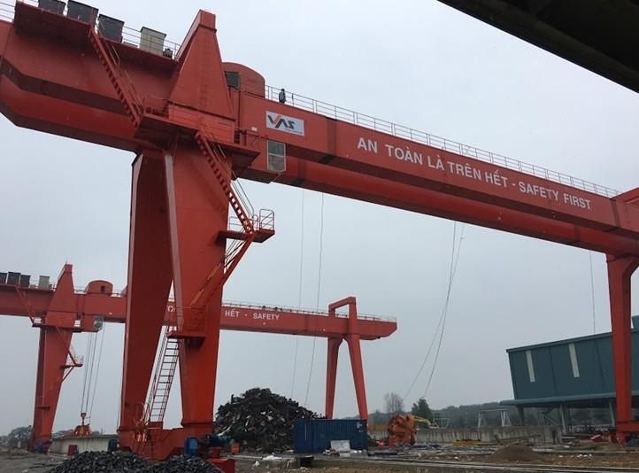 Cổng Trục Nhà Máy Thép TMS – 2 bộ 45m + 2x10m