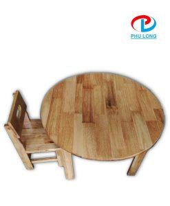 Bàn gỗ mầm non hình tròn
