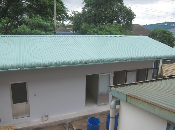 Xây dựng nhà kho & toilet Biotic