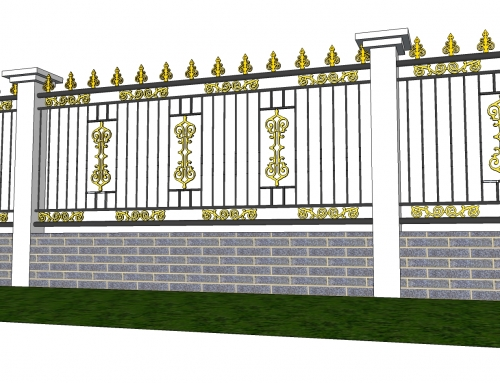 Hàng rào sắt đẹp 03B