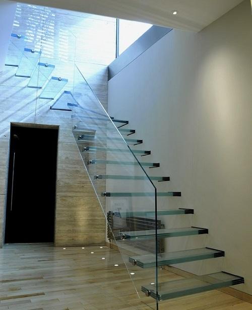 Cầu thang kính cường lực MS06