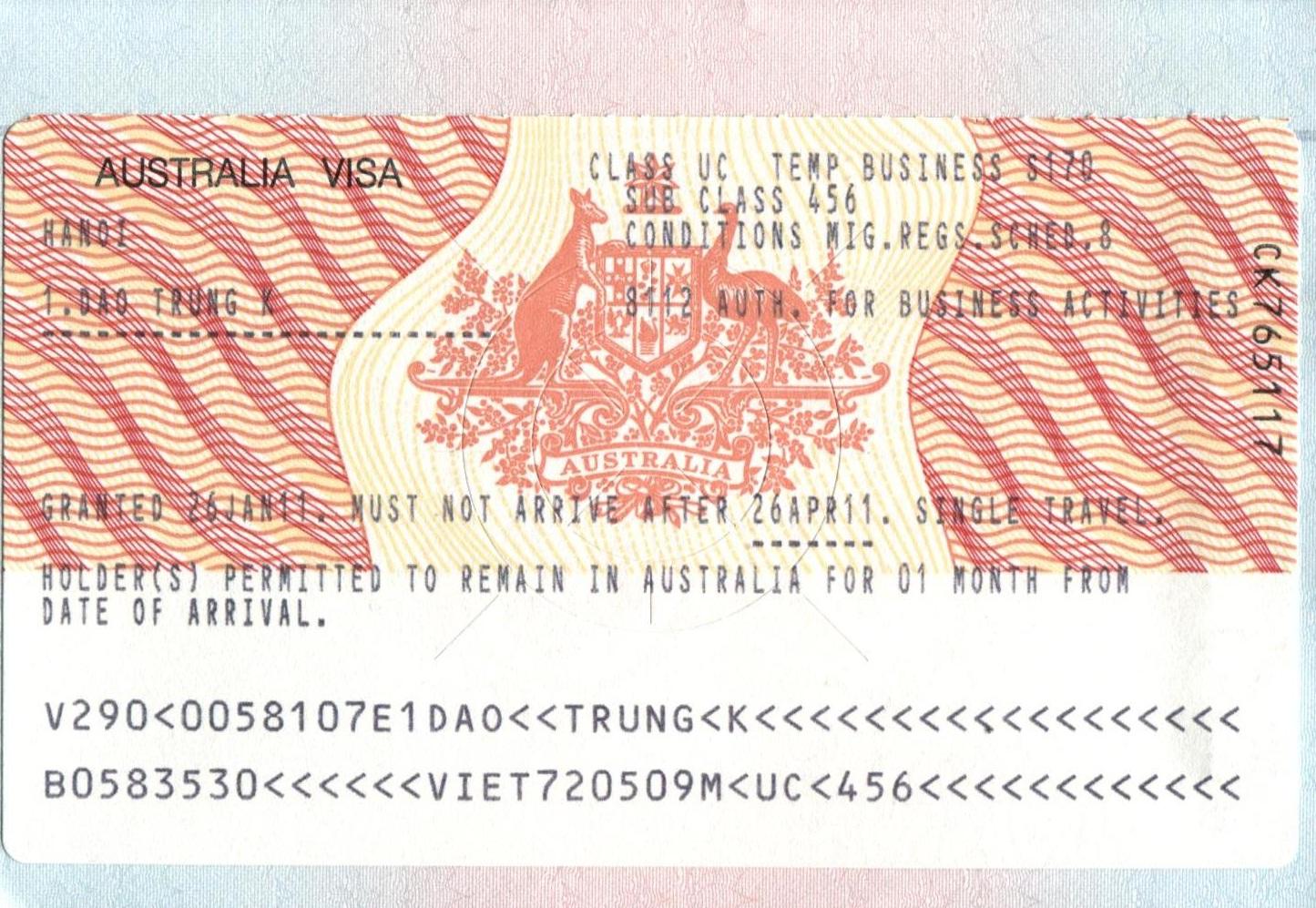 Visa du lịch Autralia