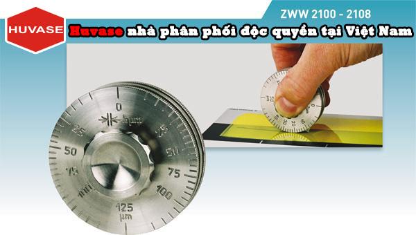 Thước đo độ dày màng sơn bánh xe tròn