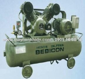Máy nén khí piston không dầu Hitachi 0.75kw (1hp)