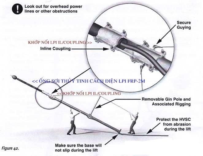 Khớp nối ống sợi thủy tinh với cột đỡ