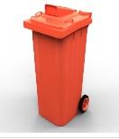 Thùng rác công nghiệp 240L nắp hở
