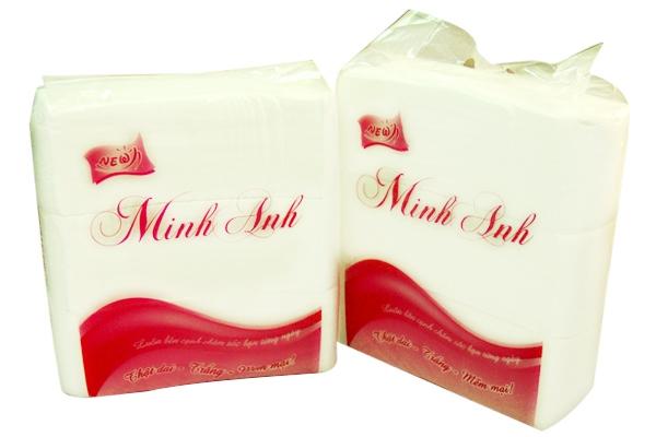 Giấy ăn đóng túi Minh Anh
