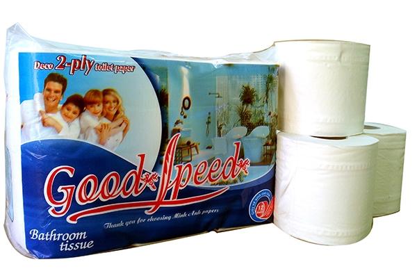 Giấy vệ sinh 12 cuộn GoodSpeed vỏ xanh (New)