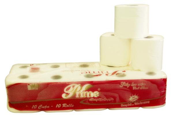 Giấy vệ sinh 10 cuộn Prime (vỏ đỏ)