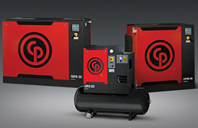 CHICAGO PNEUMATIC QRS 20-30 HP ROTARY SCREW AIR COMPRESSORS