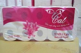 Giấy vệ sinh Cat 3 lớp 10 cuộn