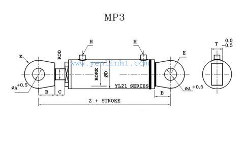 Xi lanh thủy lực MP3
