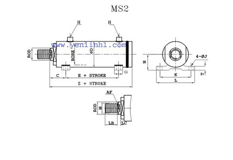 Xi lanh thủy lực MS2
